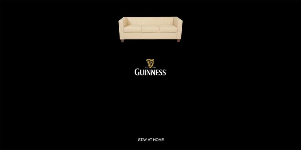 guinness stay home ad
