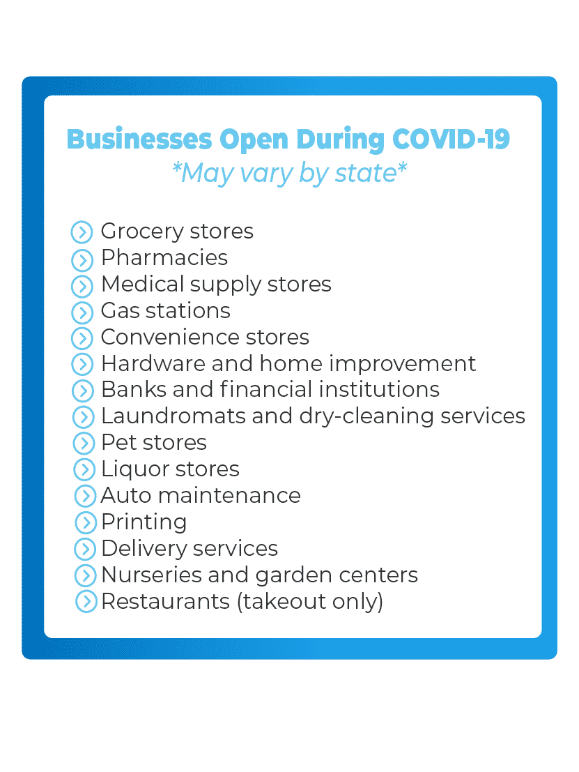 businesses closed during covid-19